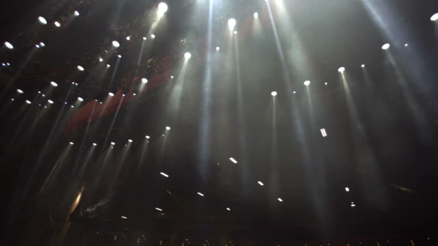 Spotlights from an empty stage video