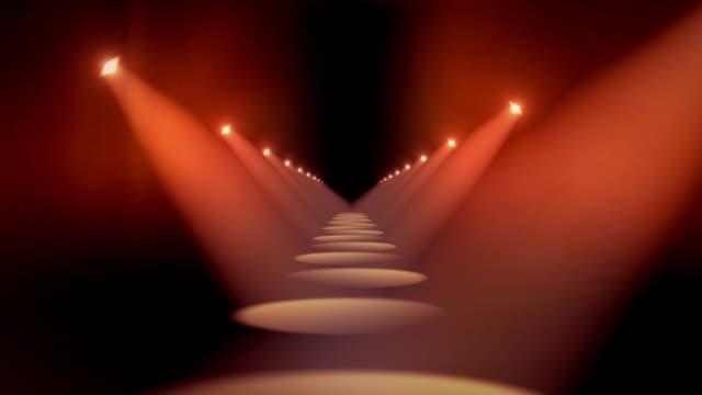 Spotlights in Hallway Background Loop Red video