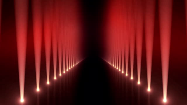 Spotlights on Catwalk Background Loop Red video