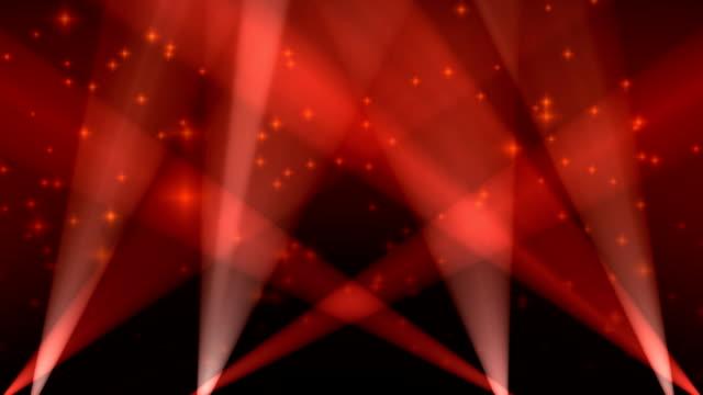 Spotlights on Sky Background Loop Red video