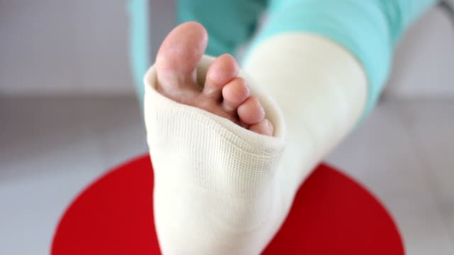 Sprain on a foot video