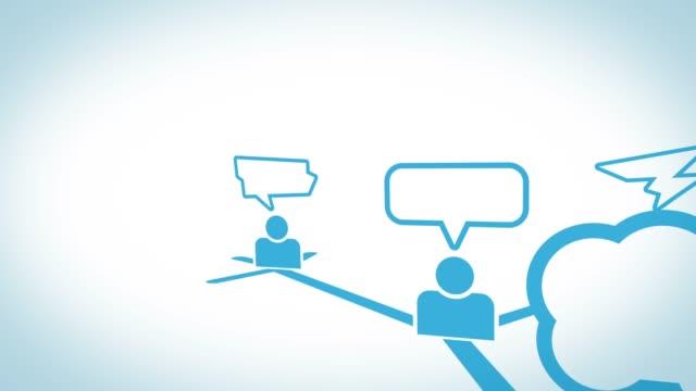 sns spread, tweets - messaggistica online video stock e b–roll