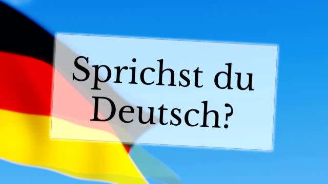 Sprichst du Deutsch / fala alemão - vídeo