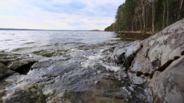 Spring on the karelian lake video