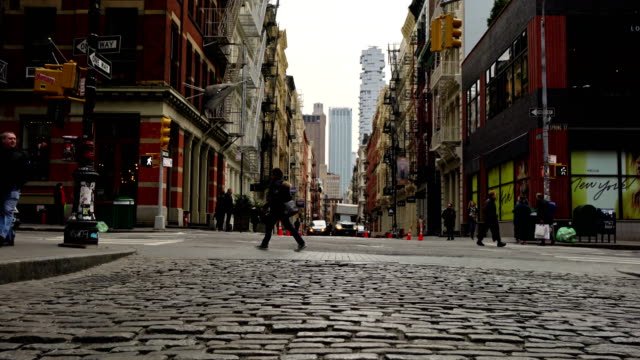 Spring St, Greene St, New York Cityscape european culture stock videos & royalty-free footage