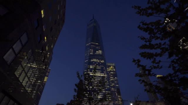 Spring time World Trade Center dolly shot video