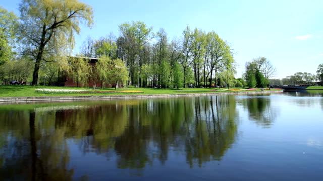 Spring  views scenic river video