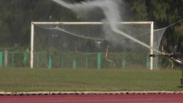 Sprinklers On The Football Pitch