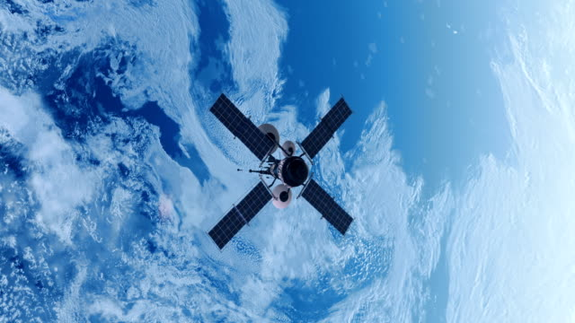 Spy Satellite orbiting Earth. video