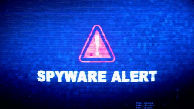 Spyware Alert Text Digital Noise Twitch Glitch Distortion