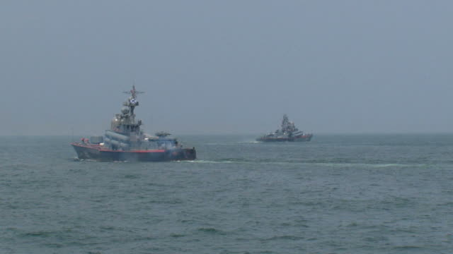 squadron of missile ships video