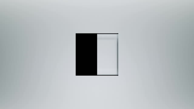 Square opening on clean surface. Animation with mask included. square composition stock videos & royalty-free footage