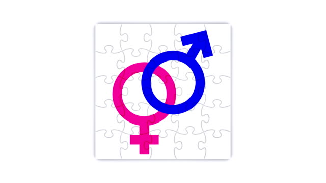 Square puzzle with gender union symbols (3 versions) video