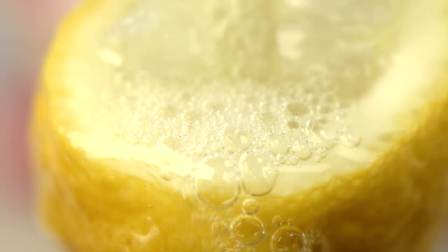 Squeezing A Fresh Lemon For It's Juice video