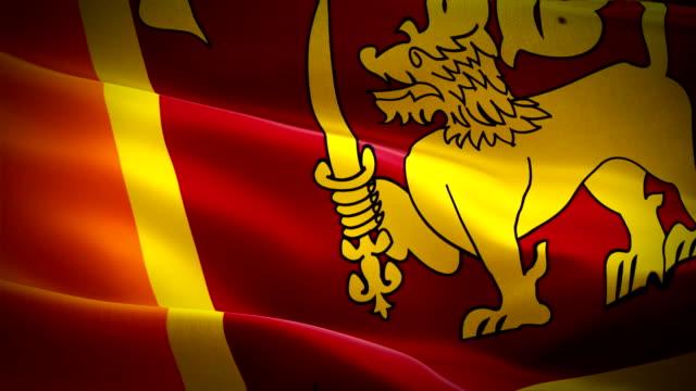 Sri Lanka flag Motion Loop video waving in wind. Realistic Sri Lanka Flag background. Sri Lanka Flag Looping Closeup 1080p Full HD 1920X1080 footage Sri Lanka flag Motion Loop video waving in wind. Realistic Sri Lanka Flag background. Sri Lanka Flag Looping Closeup 1080p Full HD 1920X1080 footage colombo stock videos & royalty-free footage