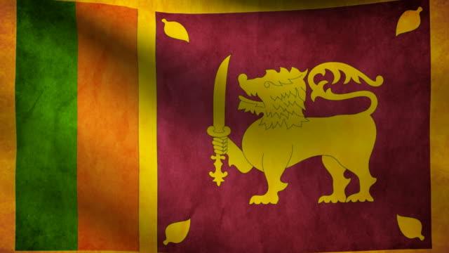Sri lanka flag. video