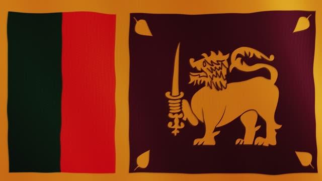 Sri Lanka flag waving animation. Full Screen. Symbol of the country video