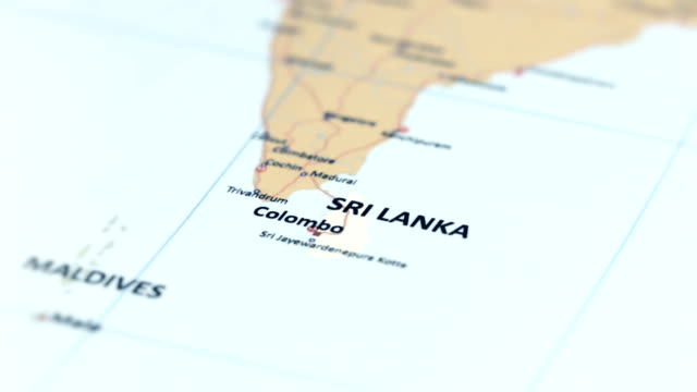 ASIA Sri Lanka on World Map tracking to ASIA Sri Lanka on World Map china east asia stock videos & royalty-free footage