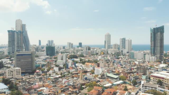 Sri Lanka skyline cityscape view Urban views of buildings roofs in Colombo, Sri Lanka colombo stock videos & royalty-free footage
