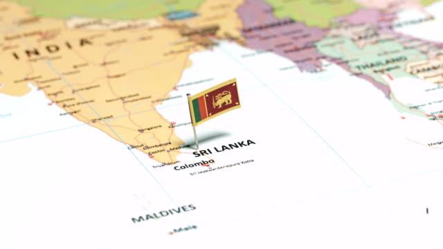 Sri Lanka with National Flag tracking to Sri Lanka with National Flag colombo stock videos & royalty-free footage