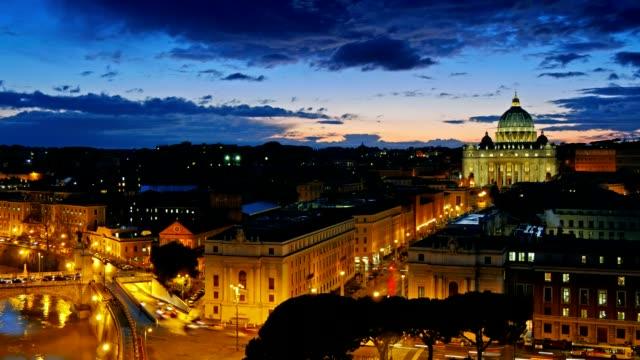 sst. peter's basilica, vatican. rome, italy. time lapse - peter the apostle bildbanksvideor och videomaterial från bakom kulisserna