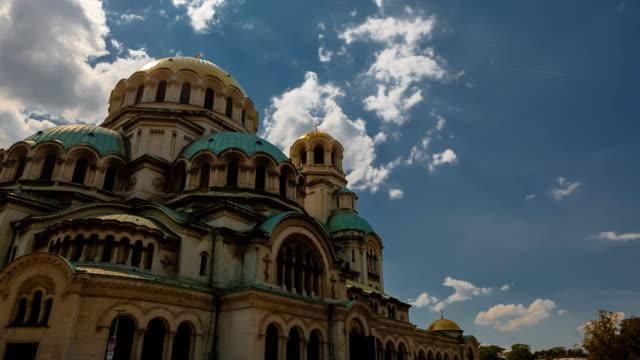 st. alexander nevsky cathedral, sofia, bulgaria - bułgaria filmów i materiałów b-roll