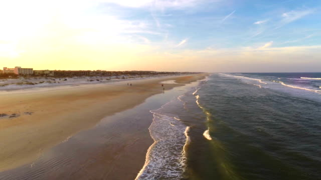st augustine beach - aerial beach stock videos & royalty-free footage
