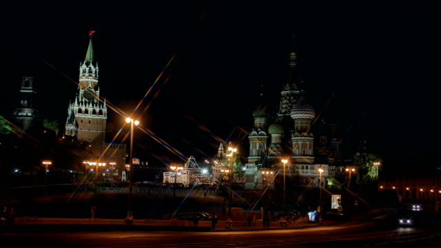 St Basil cathedral and Moscow Kremlin. video
