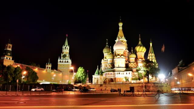st basil cathedral, moskva kreml - röda torget bildbanksvideor och videomaterial från bakom kulisserna