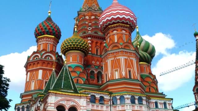 st. basil ' s cathedral i moskva, en gammal katedral nära moskvas kreml. - vasilijkatedralen bildbanksvideor och videomaterial från bakom kulisserna