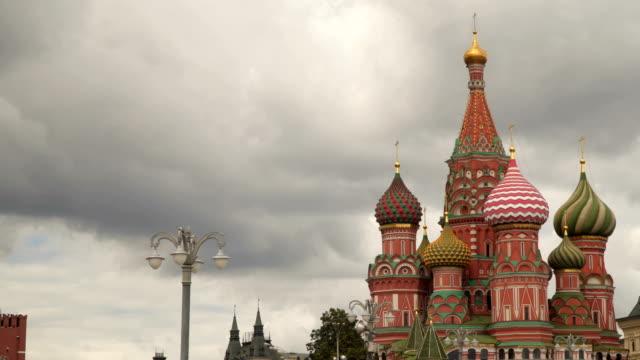 st basil's cathedral i moskva - vasilijkatedralen bildbanksvideor och videomaterial från bakom kulisserna