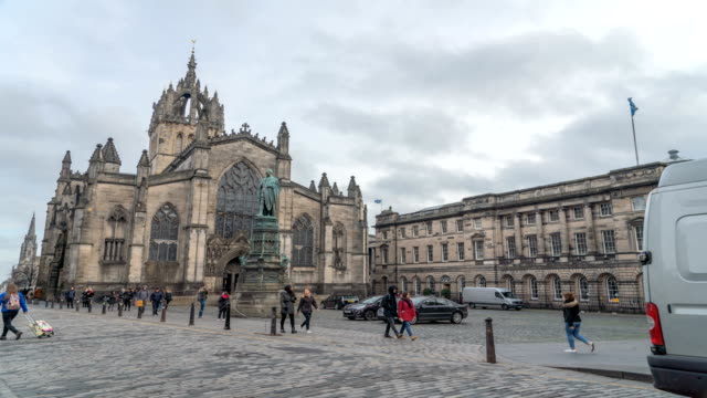 T/L St Giles' Cathedral in Edinburgh City, Scotland