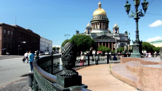 st. isaac cathedral, saint-petersburg, russia - isakskatedralen bildbanksvideor och videomaterial från bakom kulisserna