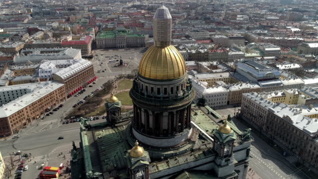 St. Isaac's Cathedral of St. Petersburg Aerial Shoot video