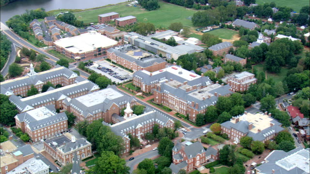 St John's College  - Aerial View - Maryland, Anne Arundel County, United States video