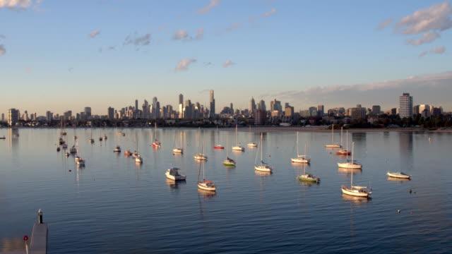 st kilda marina, melbourne, victoria, australien - strandnära bildbanksvideor och videomaterial från bakom kulisserna