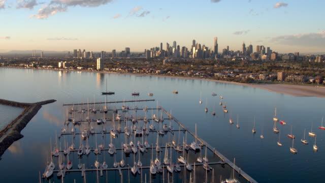 st kilda marina, melbourne, victoria, australia - melbourne stock videos & royalty-free footage