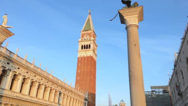 St. Mark Bell Tower, St. Mark Square, Venice, Italy video