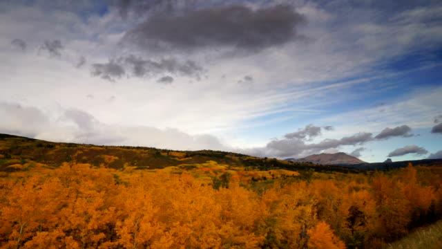 st mary montana rocky mountains fall foliage glacier national park - ноябрь стоковые видео и кадры b-roll