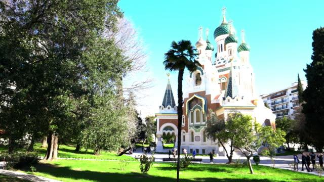 st nicholas ortodoks katedrali - katedral stok videoları ve detay görüntü çekimi