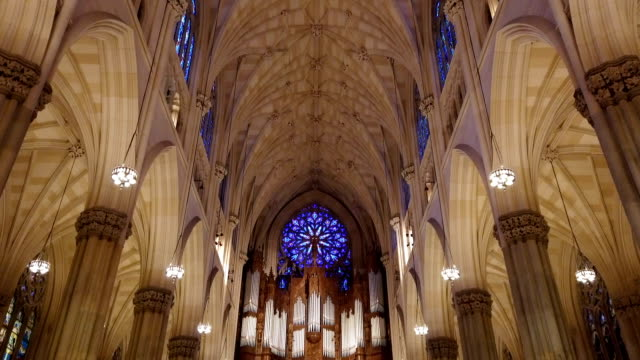st. patrick's cathedral, manhattan, new york city, usa - cathedrals stock videos & royalty-free footage
