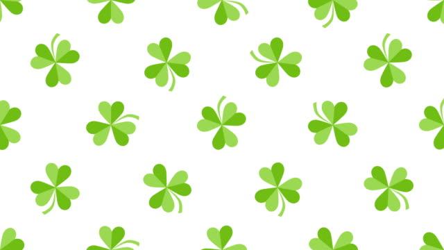 St. Patrick animés fond de Trèfle - Vidéo