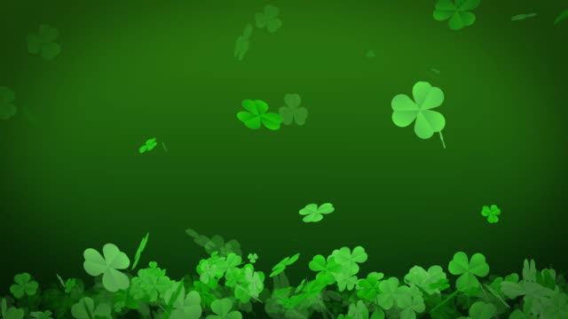St. Patrick's day background, 4K Animation Shamrocks flying on the ground. St. Patrick's day background, 4K Animation Shamrocks flying on the ground. luck stock videos & royalty-free footage