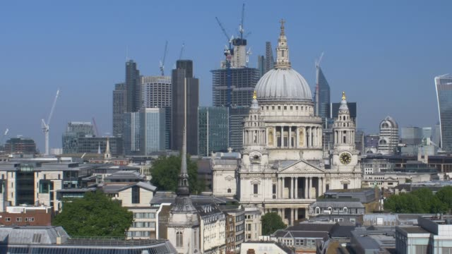 St Paul's and the City of London Skyline video