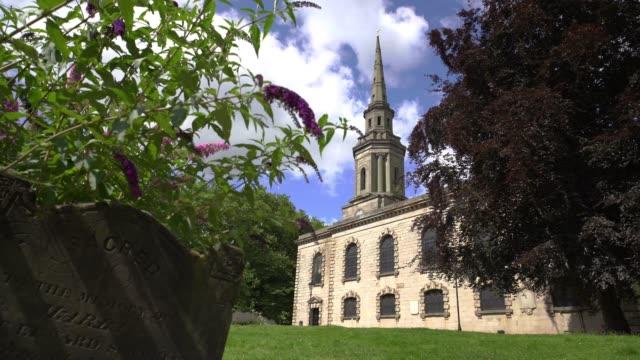 St Paul's church, jewelery quarter, Birmingham. - vídeo