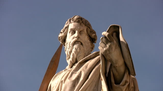 St. Peter and 12 apostles in the Vatican video