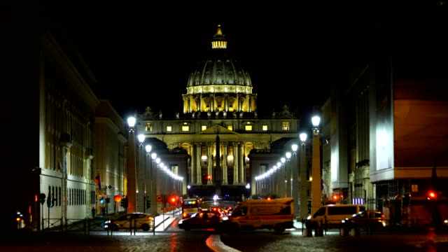 st peter cathedral in rome, italy - проспект стоковые видео и кадры b-roll