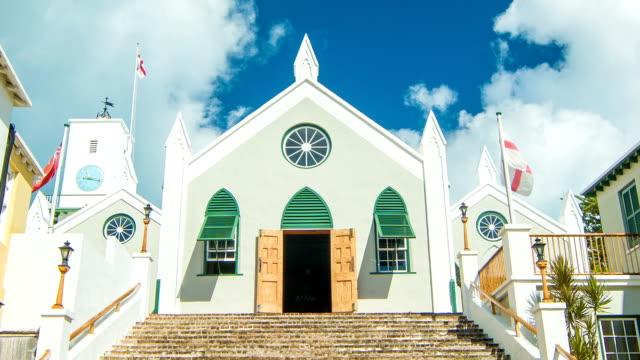 st. peter's church in st. george's, bermuda - peter the apostle bildbanksvideor och videomaterial från bakom kulisserna