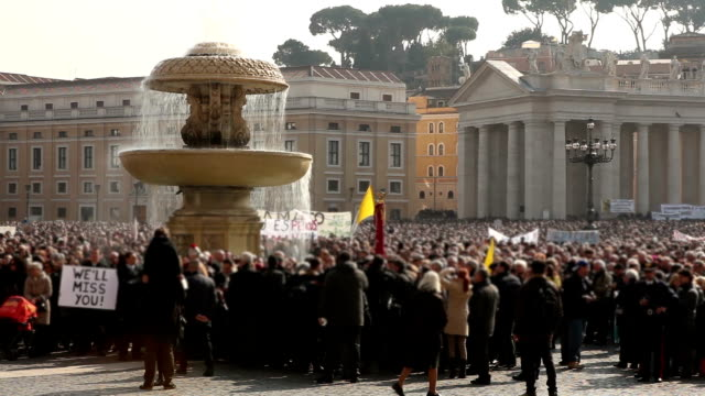 St. Peter's Square in Rome video