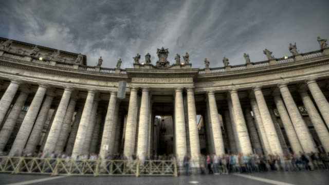 St Peter's Square in Vatican video